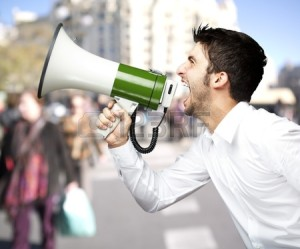 shouting in the streets
